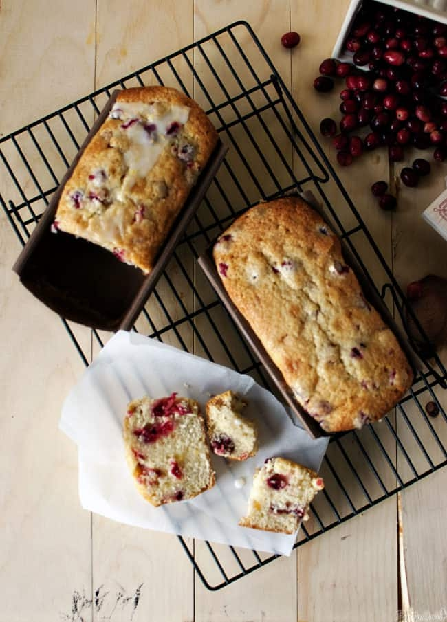 Glazed Cranberry-Lemon Crystallized Ginger Loaf is great as a breakfast treat or afternoon snack with a warm beverage. \\ PassTheSushii.com