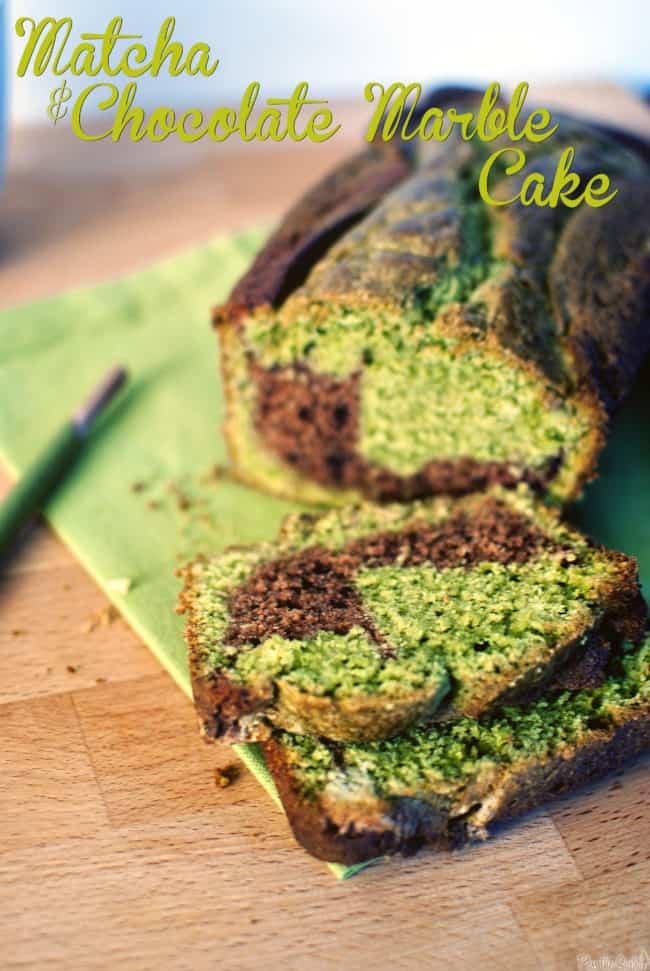 Matcha-Chocolate Marble Cake Recipe || PassTheSushi.com