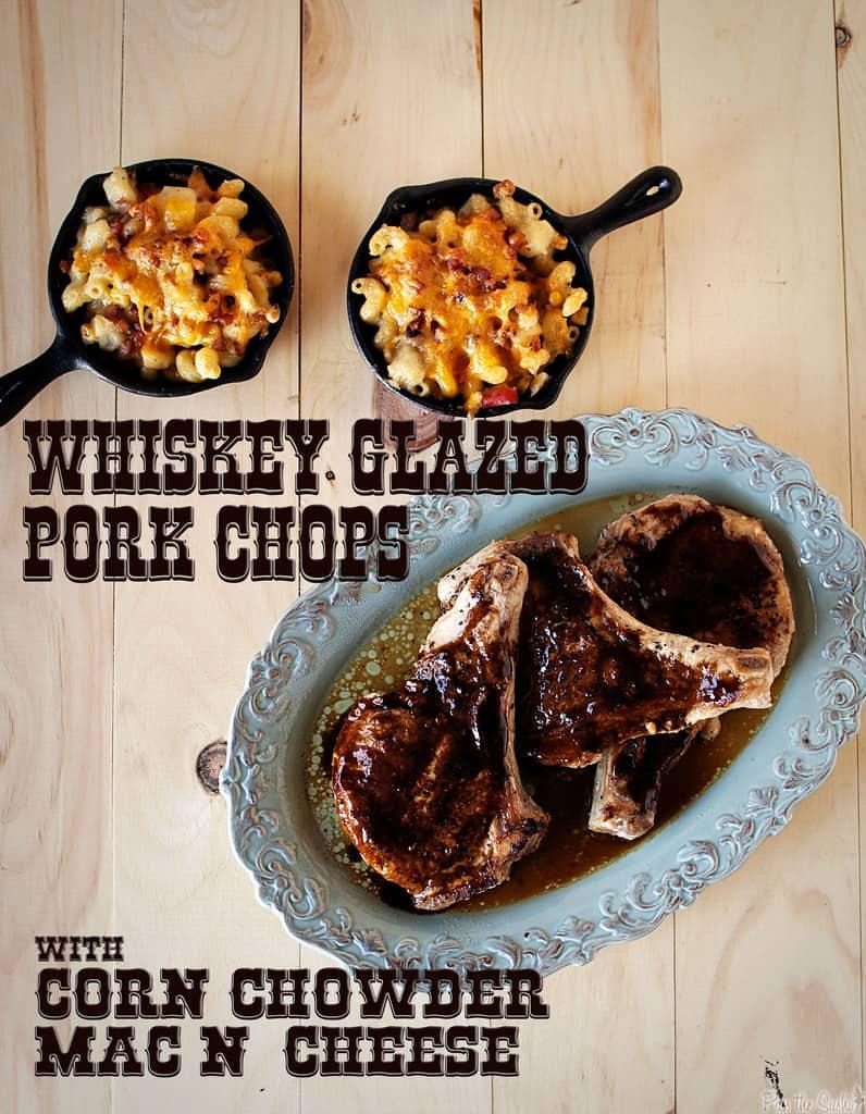 Whiskey-Glazed Pork Chops & Corn Chowder Mac n' Cheese ...