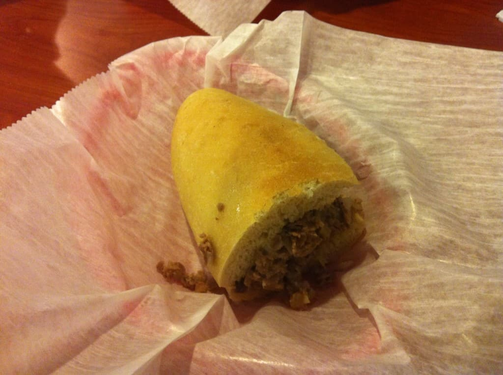 cheese steak from Two Cousins Pizzeria
