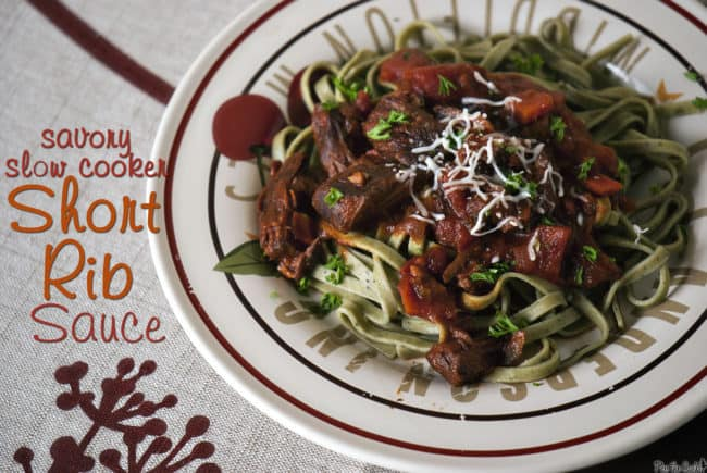 Savory Slow Cooker Short Ribs with Red Wine Sauce