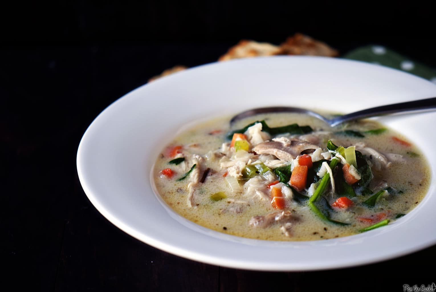 Creamy Chicken and Wild Rice Soup - Pass The Sushi