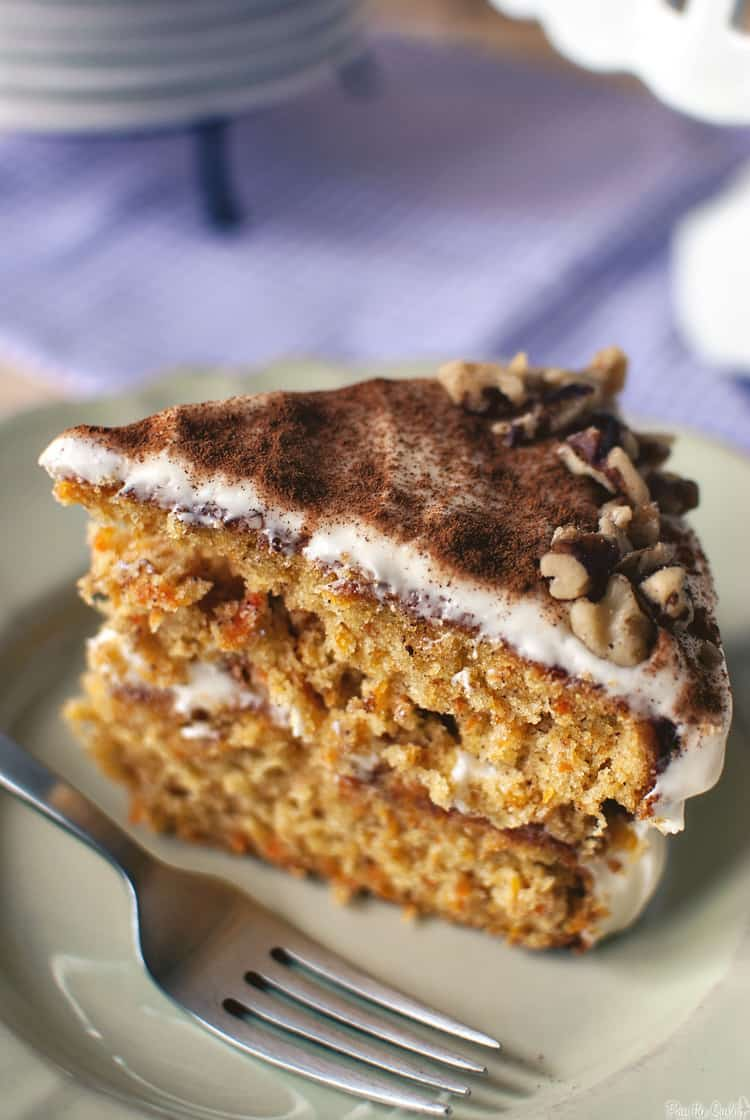 Simple Carrot Cake with Cream Cheese Frosting - Pass The Sushi