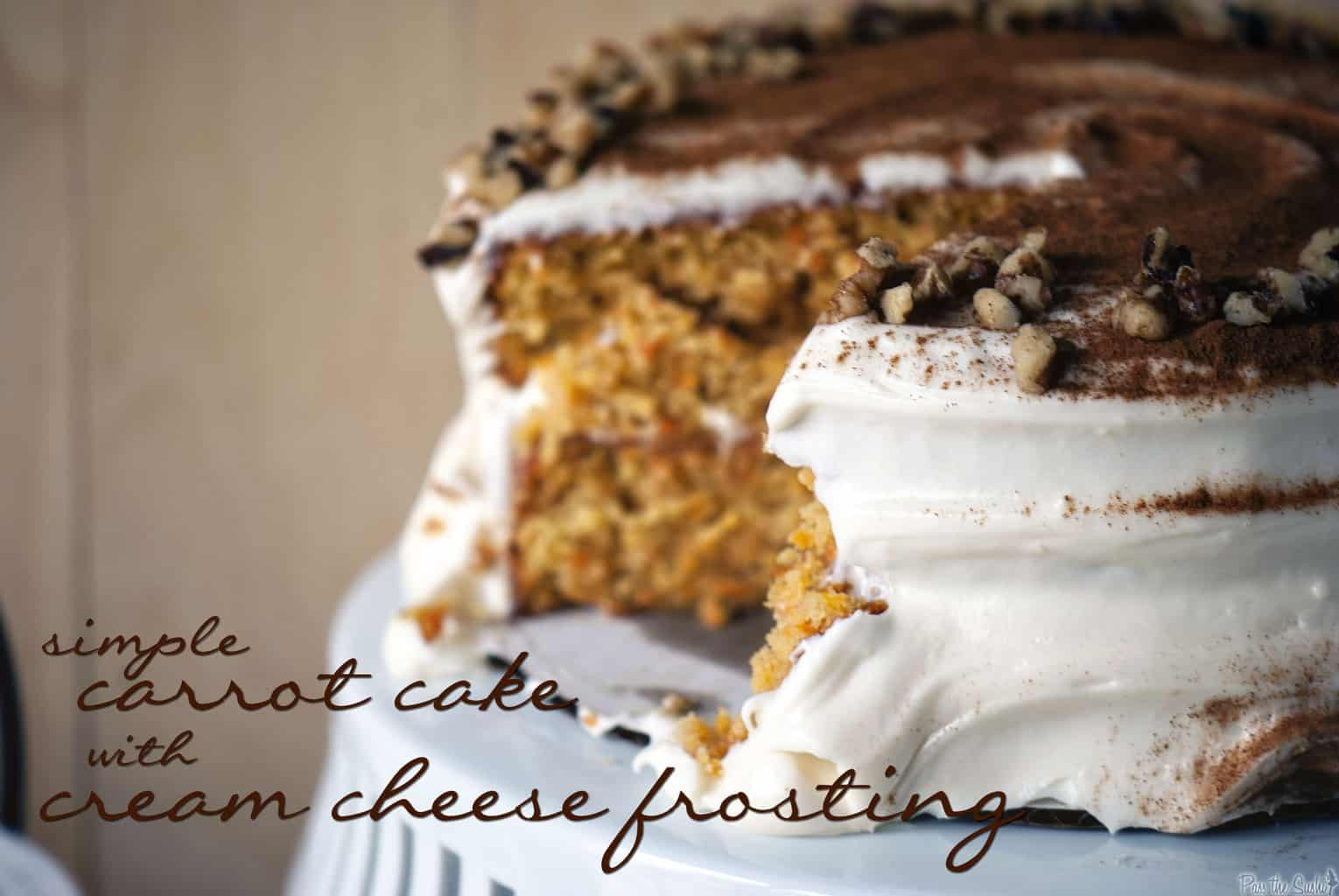 Awesome Carrot Cake With Cream Cheese Frosting Recipe — Dishmaps