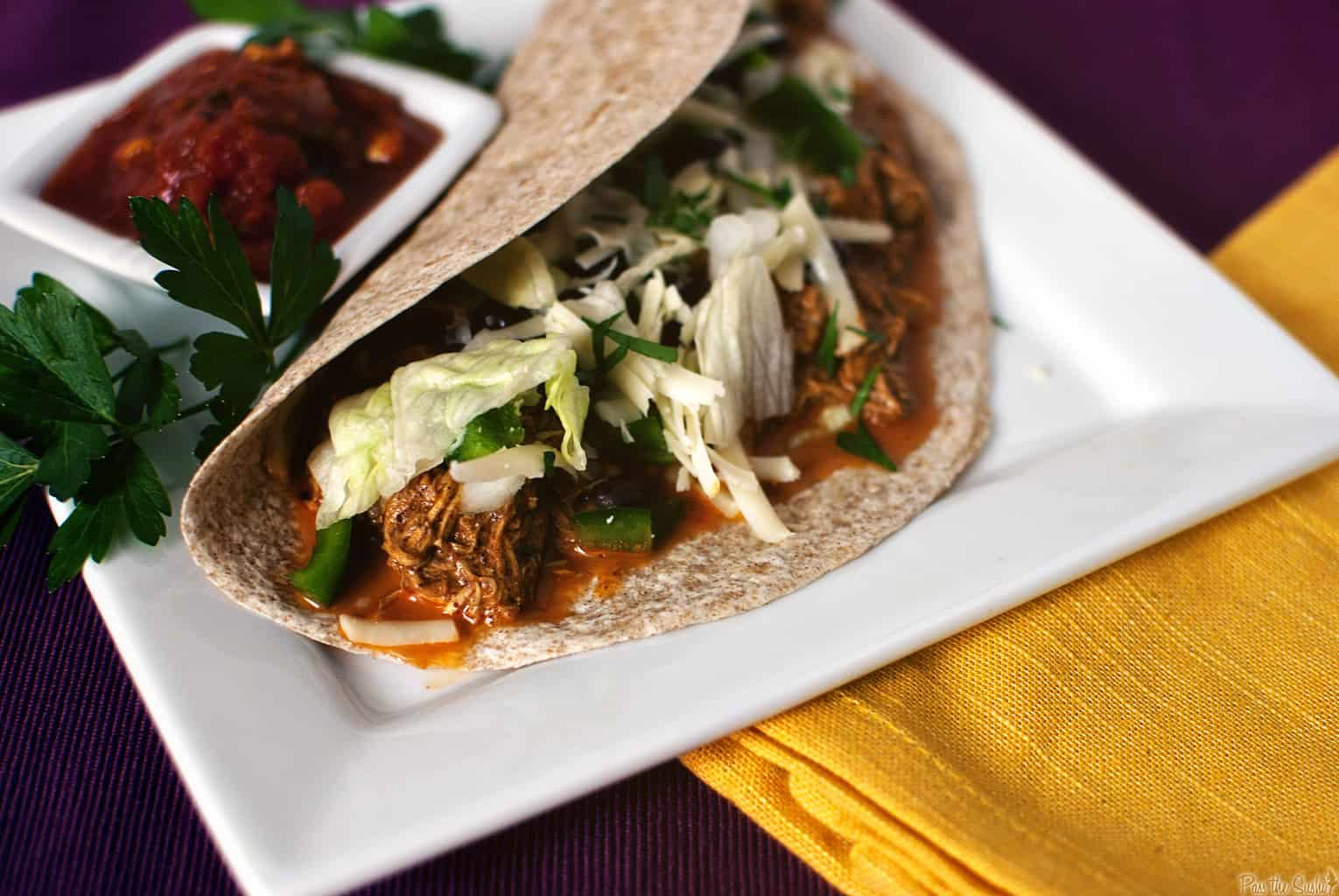 Quick Dinner Fixins Slow Cooker Chicken Tacos Pass The