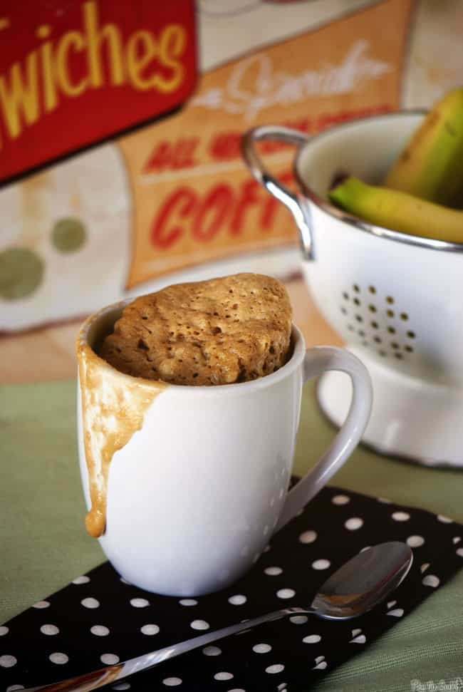 super easy banana bread mug cake - microwave recipe