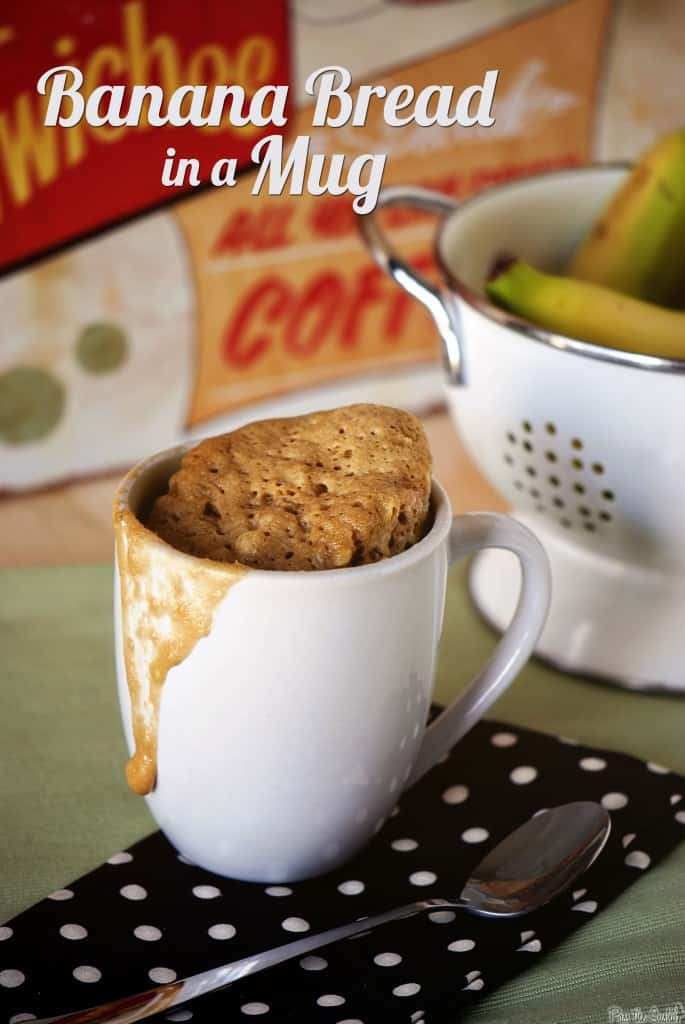 Single Serve Banana Bread in a Mug \ PasstheSushi.com