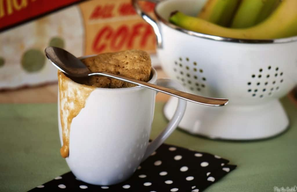 Single Serve Banana Bread in a Mug \\ PasstheSushi.com