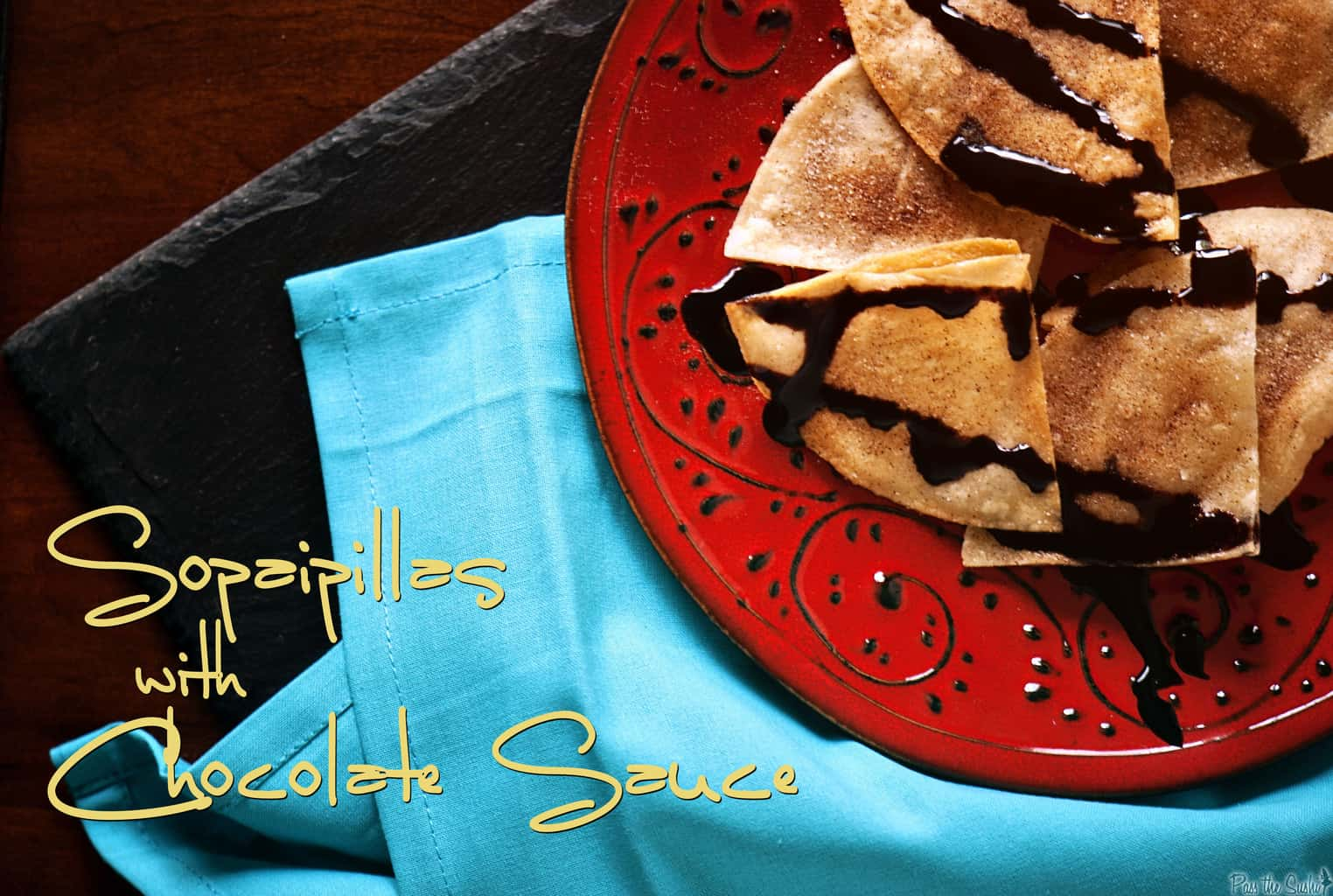 Quick Sopaipillas with Chocolate Sauce & Mexican Recipe Round Up