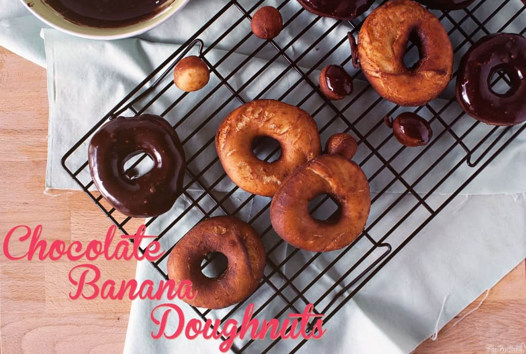 Chocolate Banana Doughnuts