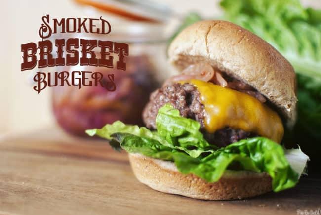 Smoked Brisket Burgers | Kita Roberts PassTheSushi.com