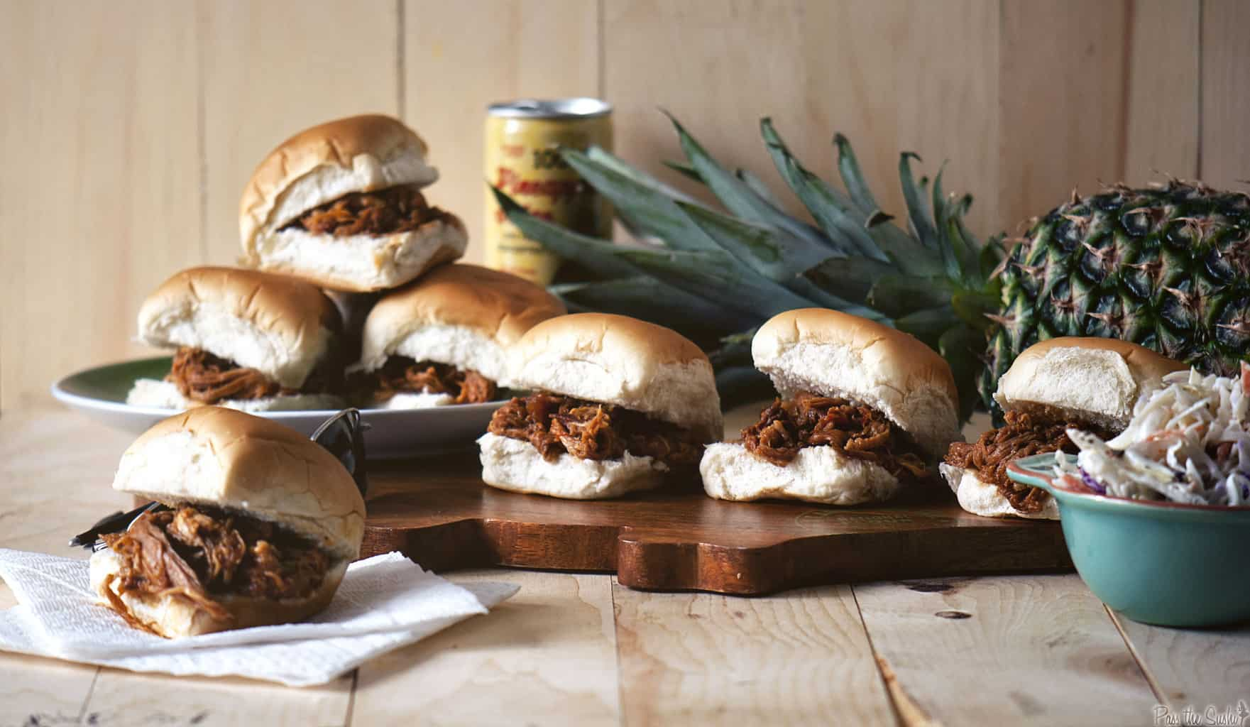 Quick Dinner Fixins: Hawaiian Pulled Pork Sandwiches