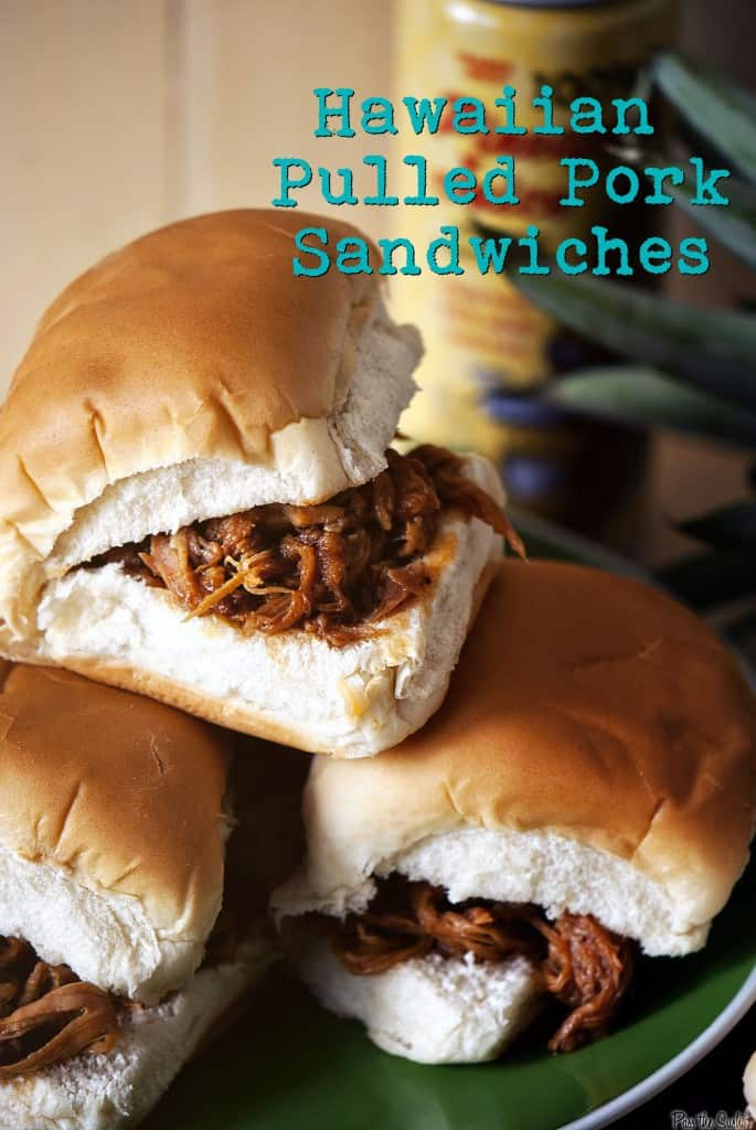 Slow Cooker Hawaiian Pulled Pork { Pass the Sushi }