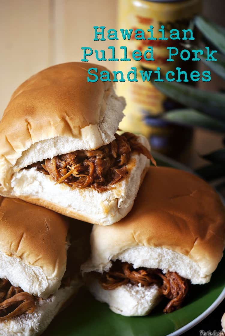 Quick Dinner Fixins: Hawaiian Pulled Pork Sandwiches - Pass The Sushi