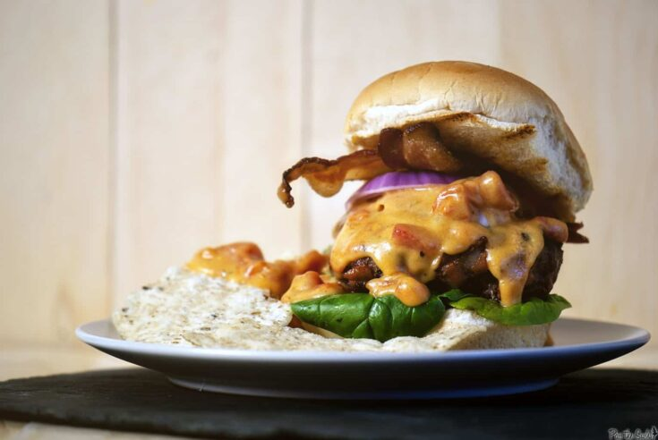 Tex-Mex Bacon Cheeseburgers for Father's Day - Pass The Sushi
