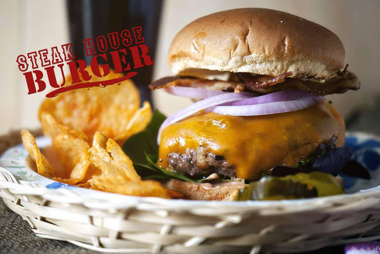 Steak House Burger | Kita Roberts PassTheSushi.com