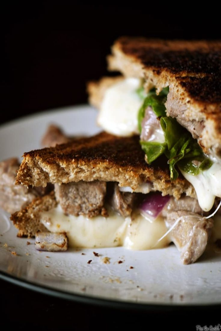 Leftover Lamb Grilled Cheese Sandwich