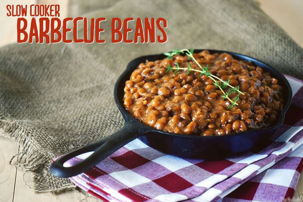 Slow Cooker Barbecue Beans  \\ PasstheSushi.com