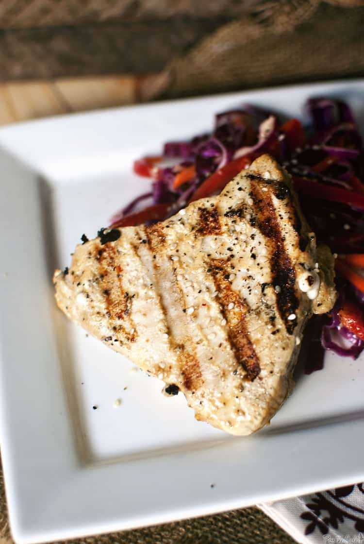 Grilled Tuna Steaks with Asian
