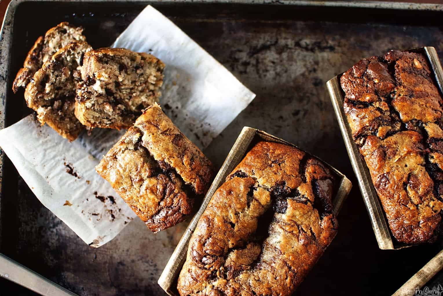 Banana Bread with Nutella Swirls - Pass The Sushi