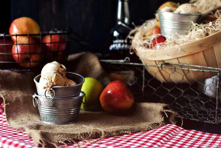 An Apple a Day: Caramel Apple Brandy Gelato