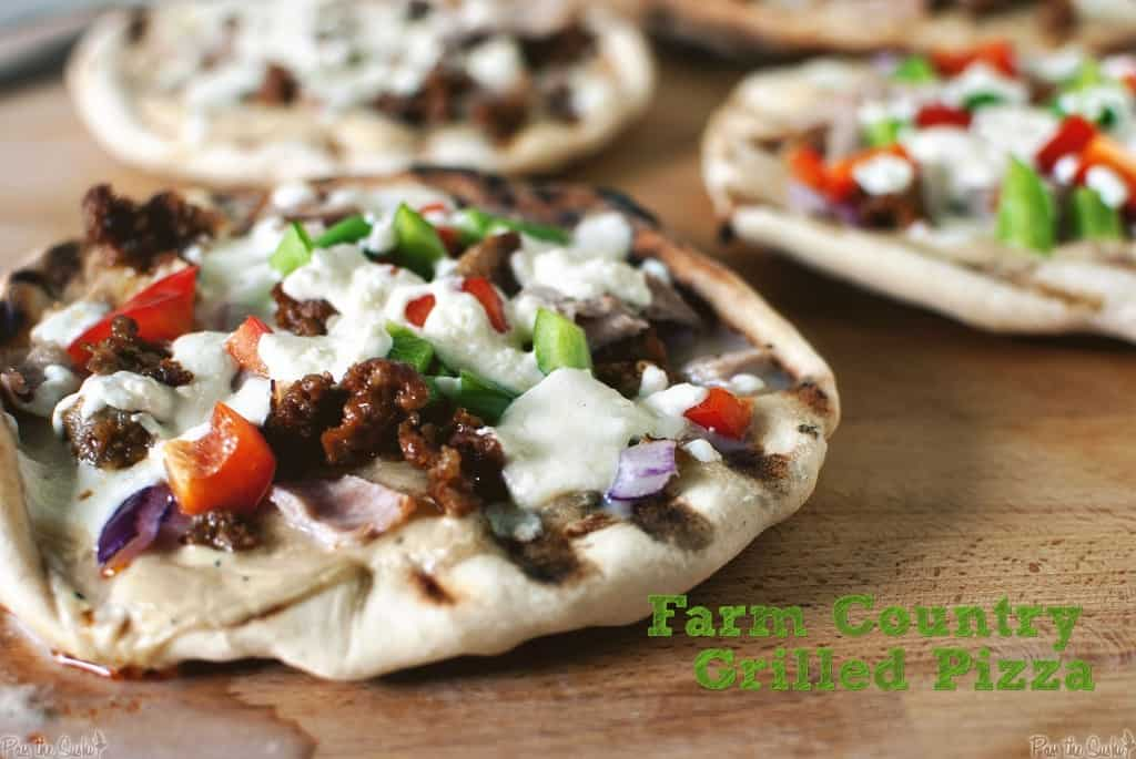 farm country grilled pizza