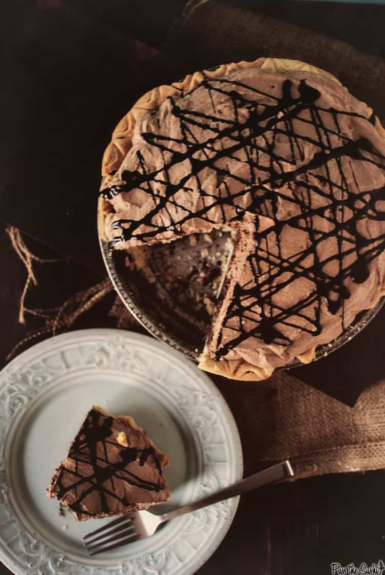 Triple Layer Chocolate Mousse Pie