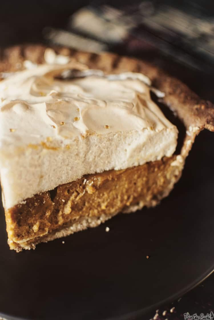 Pumpkin Pie with Brown Sugar Meringue & a #Pumpkin Recipe Round Up ...