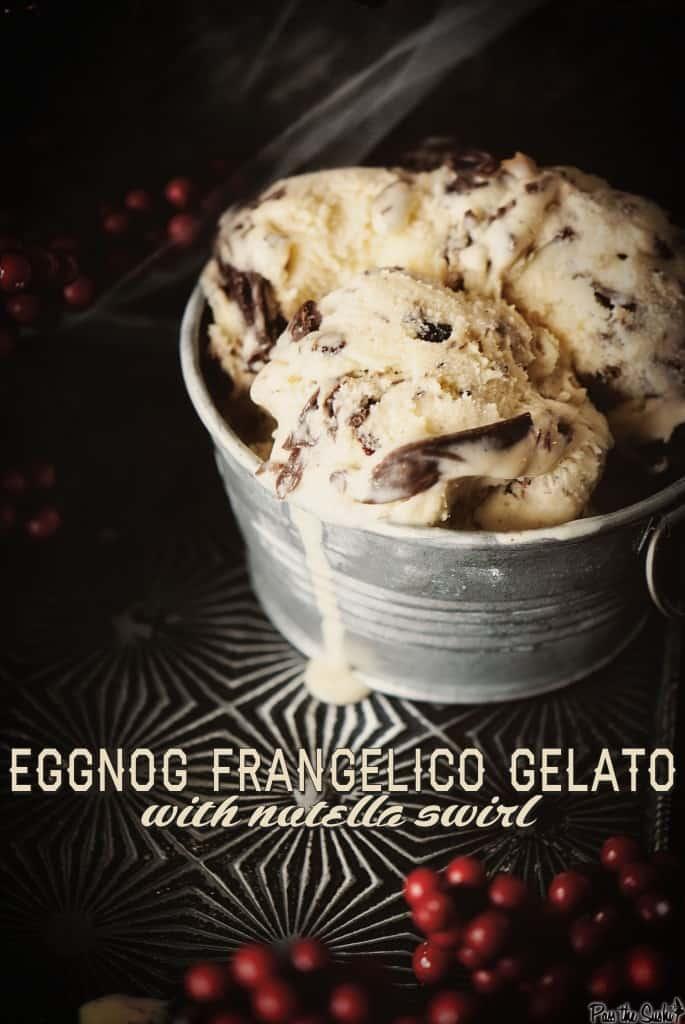 EggNog Frangelico Gelato | Kita Roberts PassTheSushi.com