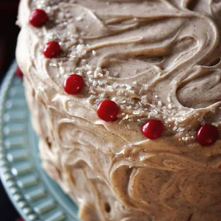 Red Velvet Cake with Cinnamon Cream Cheese Frosting