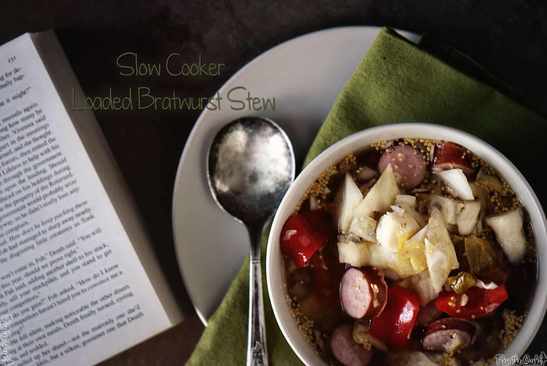 Loaded Bratwurst Stew | Kita Roberts PassTheSushi.com