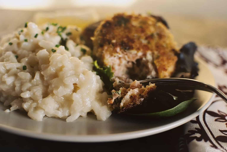 Salmon Cakes with Parmesan Risotto | Kita Roberts PassTheSushi.com