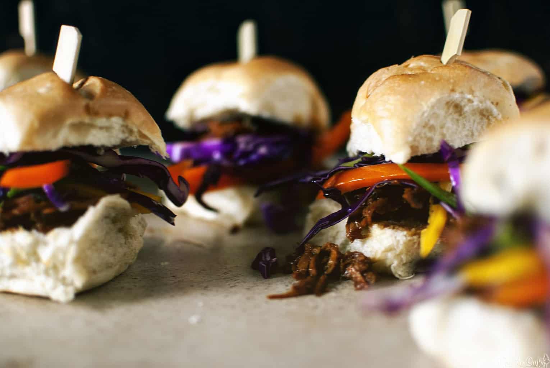 Slow Cooker Asian Sliders | Kita Roberts PassTheSushi.com