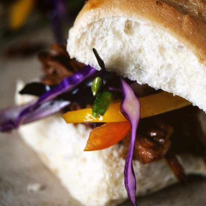 Slow Cooker Asian Sliders with Slaw