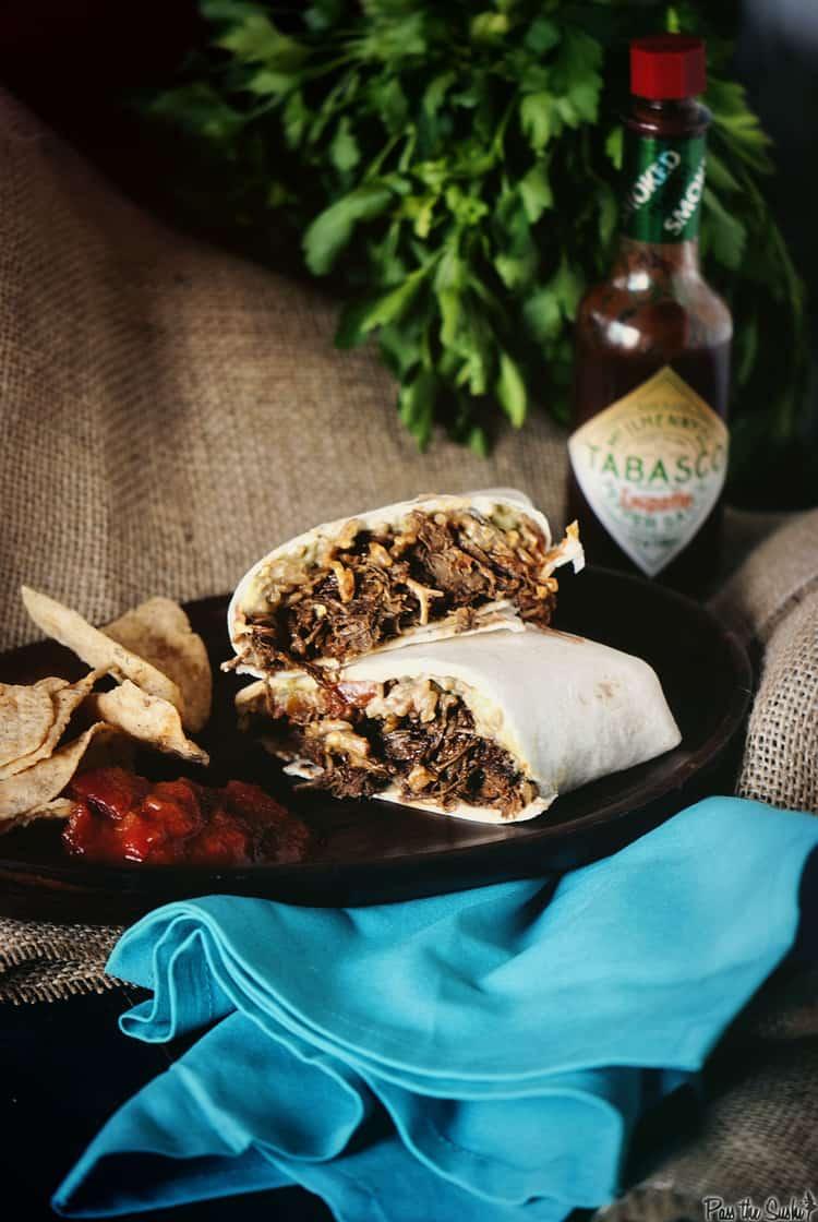 Slow Cooker Chipotle Beef Burrito | Kita Roberts PassTheSushi.com