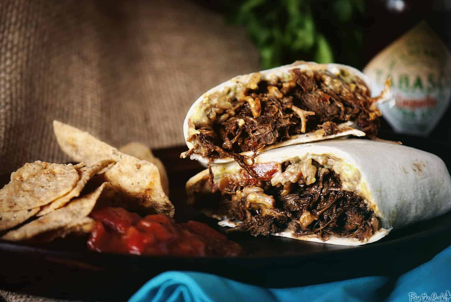 Slow Cooker Chipotle Beef Burrito | Kita Roberts PassTheSushi.com