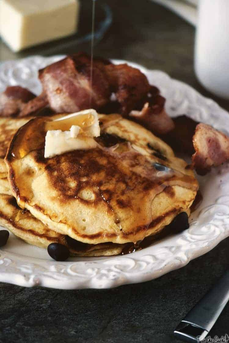 Chocolate Chip Pancakes | Kita Roberts PassTheSushi.com