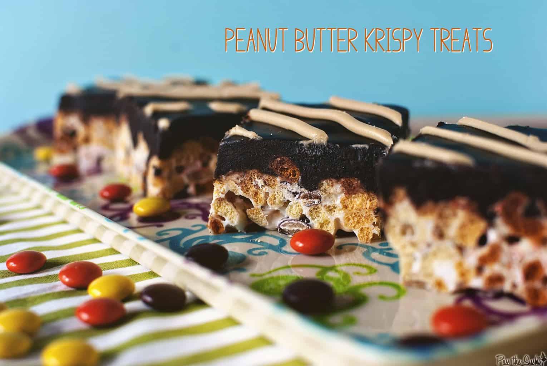 Peanut Butter Krispy Treats | Kita Roberts PassTheSushi.com