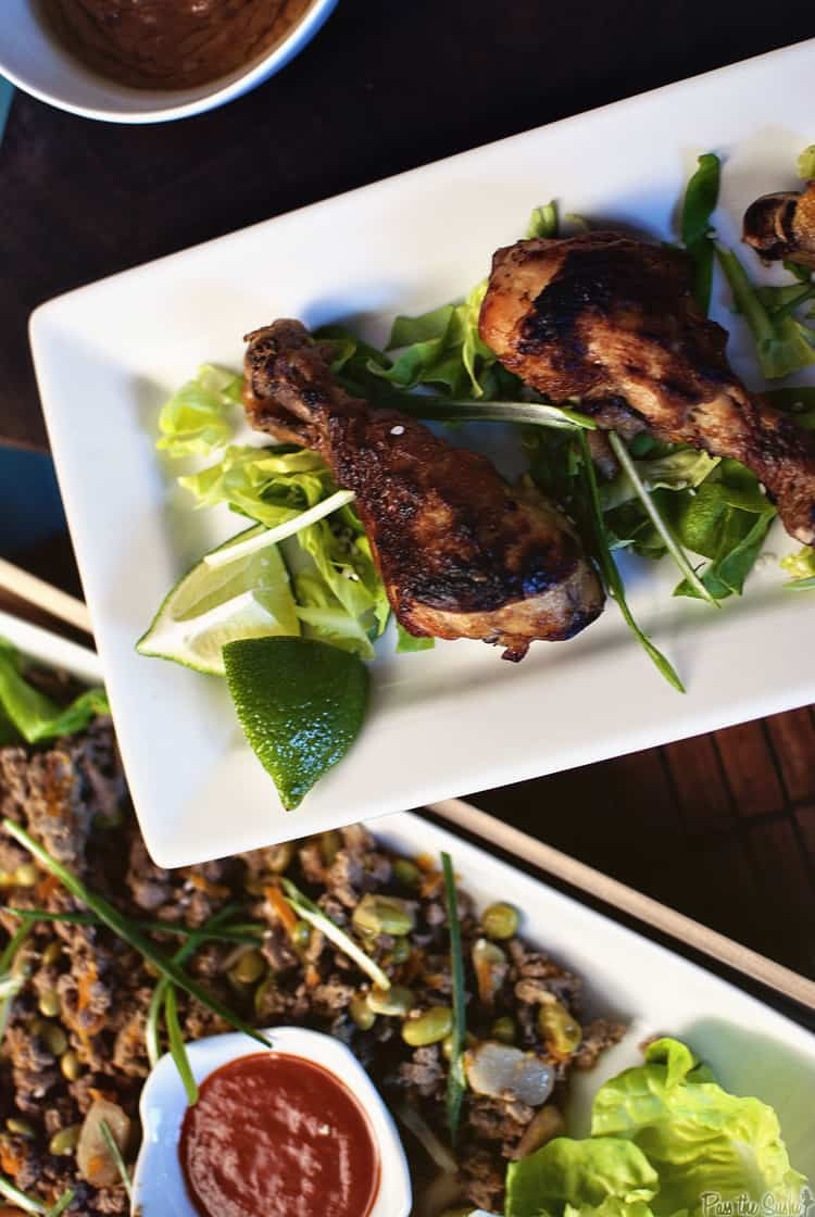 Slow Cooker Asian Lettuce Cups and Thai Chicken Wings   Kita Roberts PassTheSushi.com