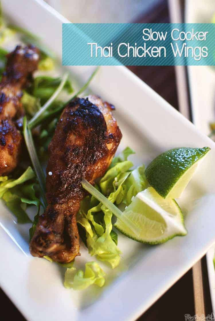 Slow Cooker Asian Lettuce Cups and Thai Chicken Wings | Kita Roberts PassTheSushi.com