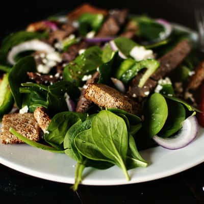 Spinach & Steak Salad