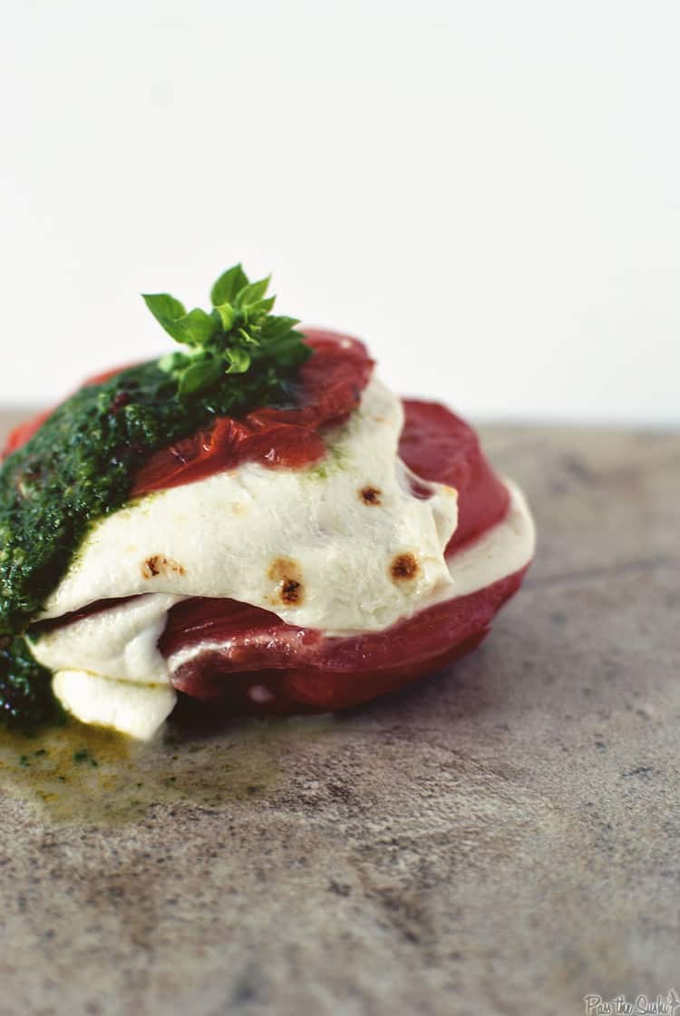 Broiled Caprese Salad | Kita Roberts PassTheSushi.com