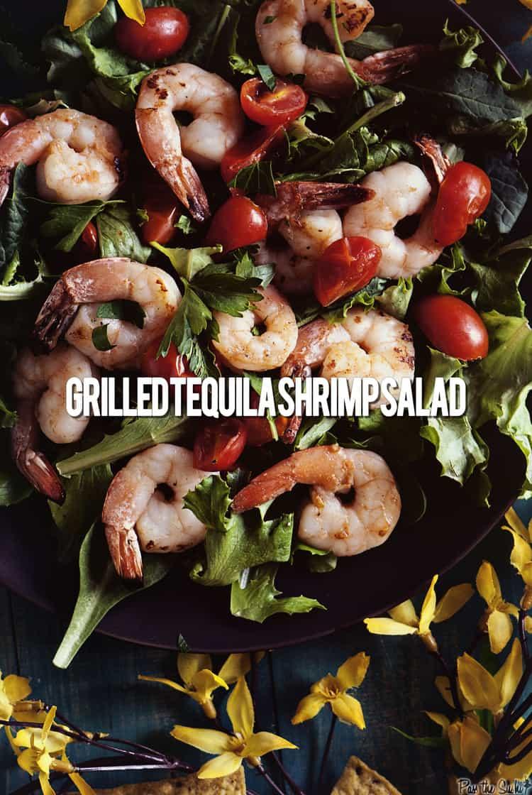 Grilled Tequila Shrimp Salad | Kita Roberts PassTheSushi.com
