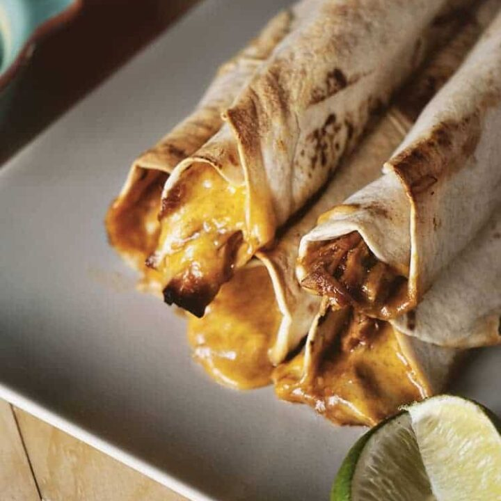 Weeknight Barbecue Chicken Taquitos