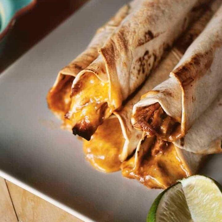 BBBQ Chicken Taquitos | Kita Roberts PassTheSushi.com