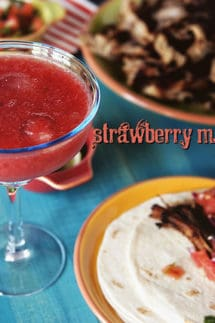 Simple Strawberry Margaritas for One