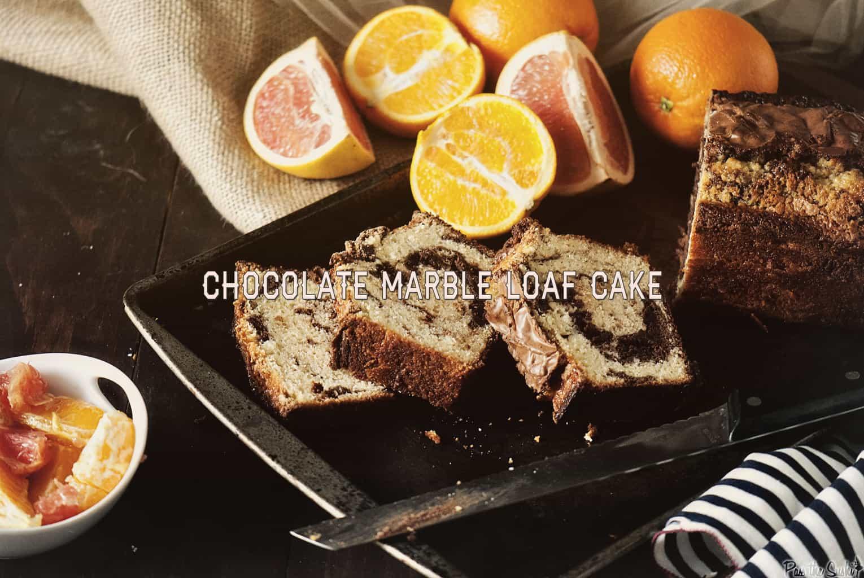 Chocolate Marble Loaf Cake | Kita Roberts PassTheSushi.com