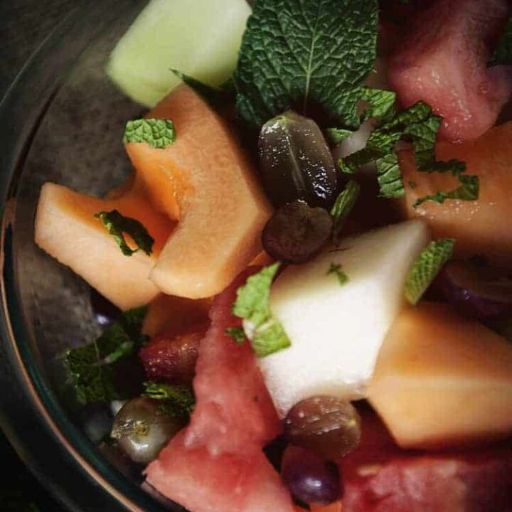 Fruit Salad with Honey Lime Syrup