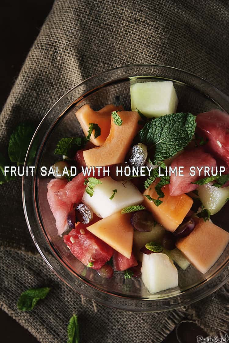 Fruit Salad with Honey Lime Syrup | Kita Roberts PassTheSushi.com