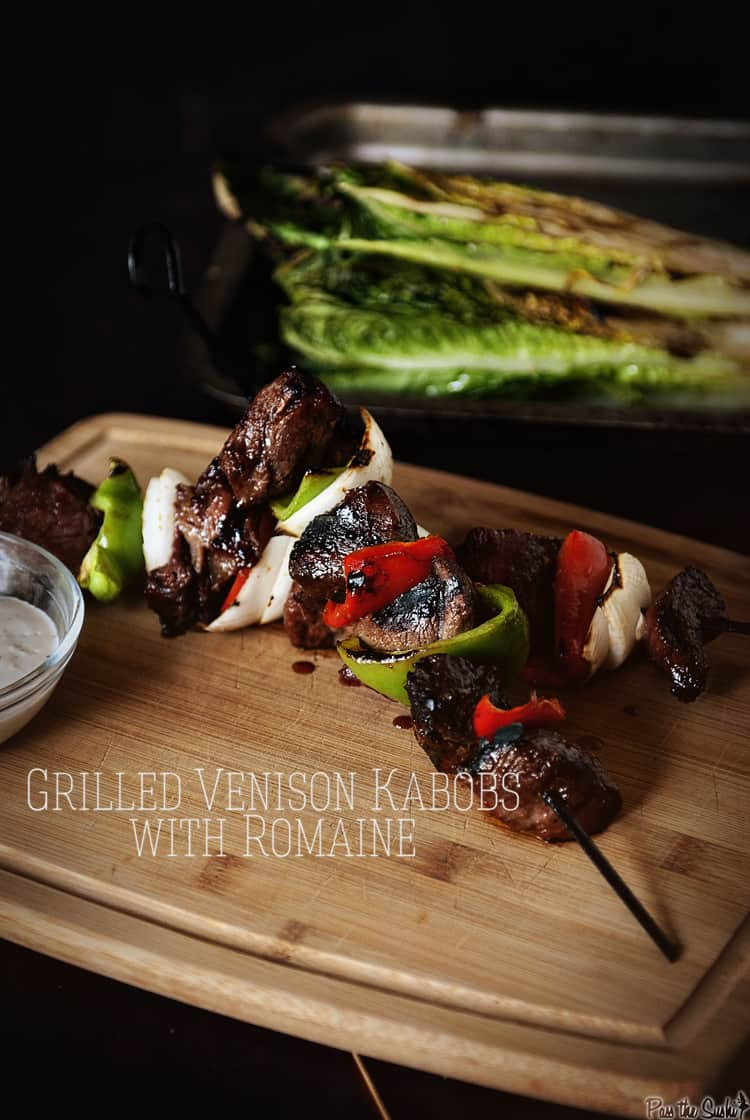 Grilled Venison Kabobs with Romaine | Kita Roberts PassTheSushi.com